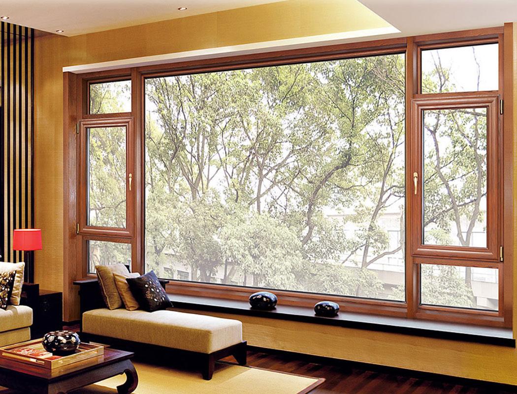 98弧形铝包木门窗